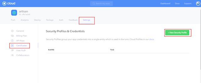 ionic_app_create_certificate