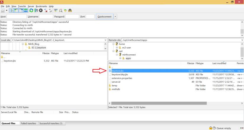 Replacing SSL certificates in Mirth [EC-2 Linux system