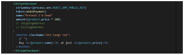 stripe usage in code